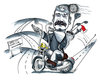caricature motorcycle